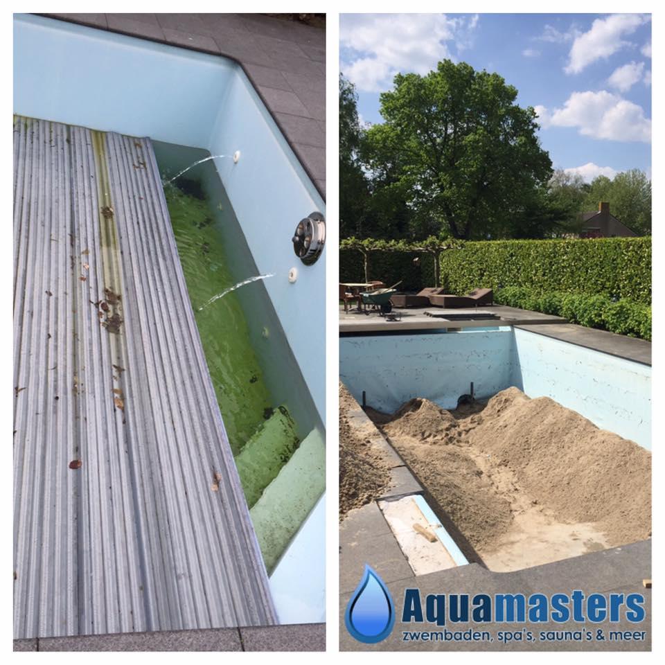 Zwembad renovatie aquamasters zwembaden spa 39 s sauna for Renovatie zwembad